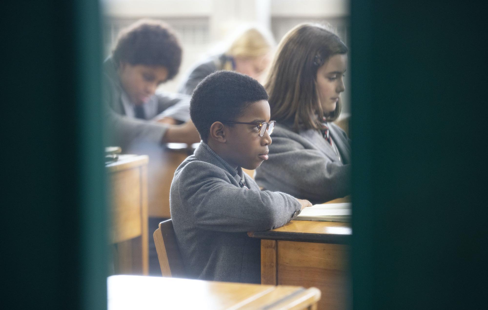 Kingsley (Kenyah Sandy) in class in Education, the finale of Steve McQueen's Small Axe